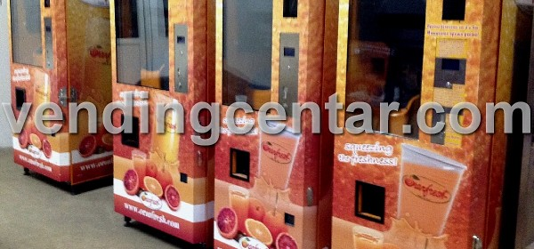 Автомати фреш сокове от Вендинг Център.